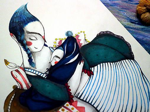 Na Lumurmu maminky I./ originál kresba