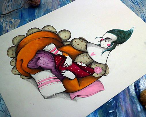 Na Lumurmu maminky II./ originál kresba