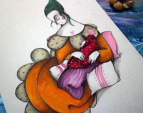 Kresby - Na Lumurmu maminky II./ originál kresba - 12744904_