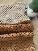 Úžitkový textil - hačkovaná deka - 12743291_