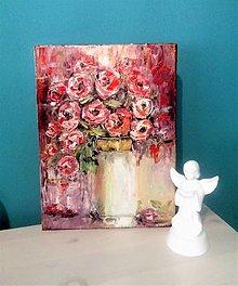 Obrazy - Červené ruže - 12743216_