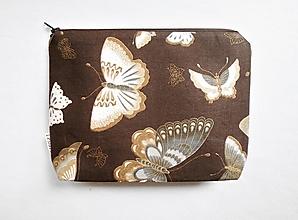 Taštičky - Taštička objemná väčšia - Motýle - 12746001_