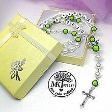 Iné šperky - Bielo-žiarivý ruženec  (Zelená) - 12744029_
