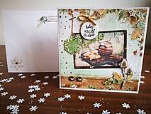 """Papiernictvo - Vianočná pohľadnica """"Zahriatie"""" - 12744456_"""