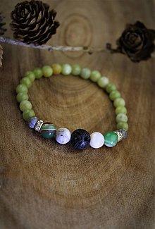 Náramky - nefrit,achát,jaspis a láva náramok - 12744559_
