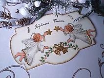 Dekorácie - Anjelikovia s hviezdičkami - 12742255_