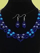 Sady šperkov - Modrý perlový set - 12745114_