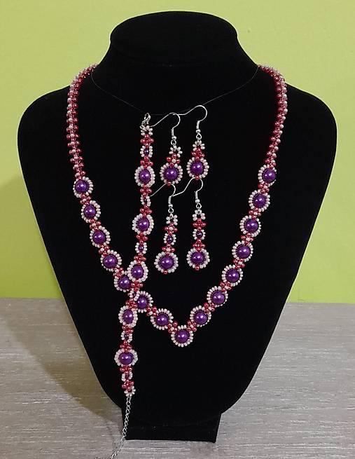 Fialový perlový set