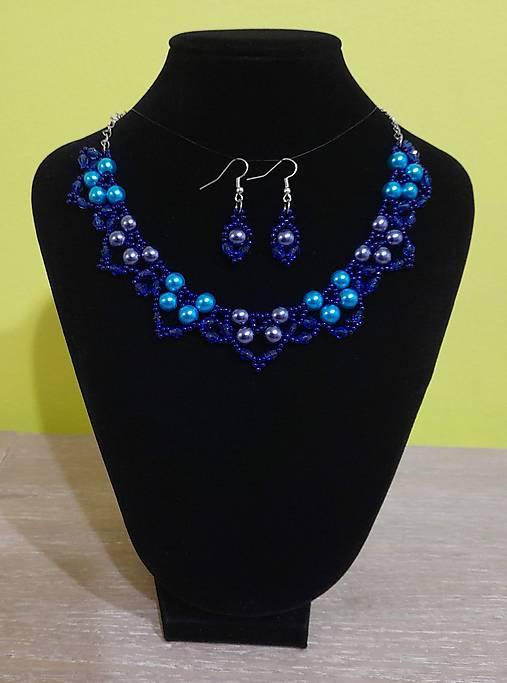 Modrý perlový set