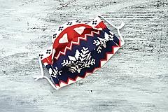Rúška - Ochranné rúško nórsky vzor modrá - 12742220_