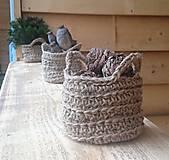 Dekorácie - Jutový košíček + jedľové vetvičky - 12744645_
