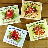 Drogéria - Sada 4 ks: Vianočné pohľadnicové mydlá - 12743623_
