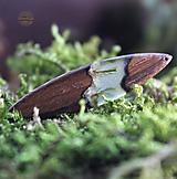 Náhrdelníky - Unisex drevený náhrdelník s retiazkou 925/1000 - 12742234_