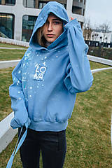 Mikiny - Modrá mikina LOVA - 12743280_
