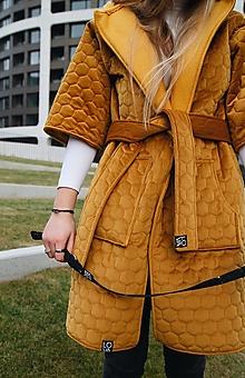 Kabáty - Žltý kabát LOVA - 12743384_