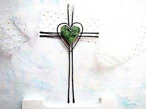 Dekorácie - Nástenný krížik - Nádej - 12743145_