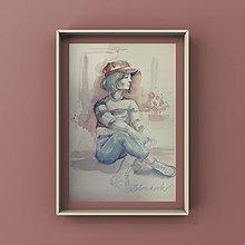 Obrazy - Maľba-Posedenie v Paríži - 12744071_