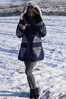 Kabáty - Ručne maľovaný kabát - 12742575_