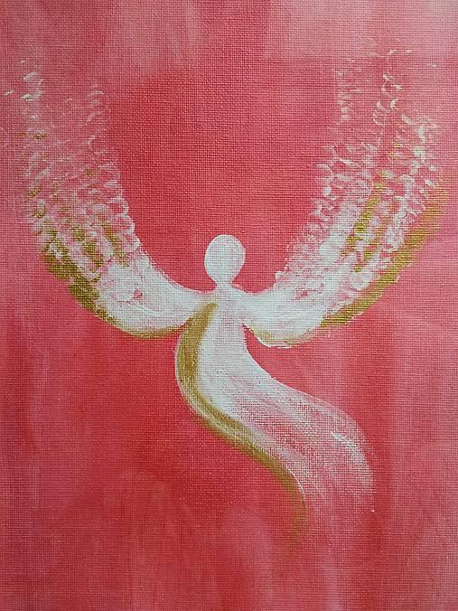 Obraz v ráme - Anjel strážny
