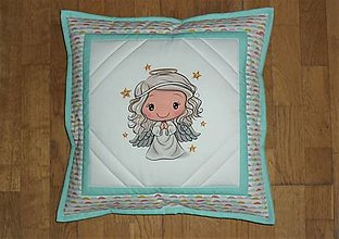 Textil - Obliečka na detský vankúšik (tyrkysový) - 12749259_
