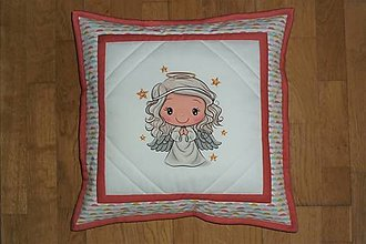 Textil - Obliečka na detský vankúšik (ružový) - 12749308_