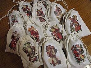 Úžitkový textil - Mikulášske vrecko mini - 12749264_