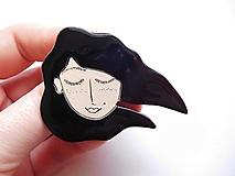 Odznaky/Brošne - S vetrom vo vlasoch brošňa #3 - 12748380_