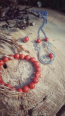Sady šperkov - Sada harfa s Koralom - 12748908_