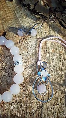 Sady šperkov - Sada jemná Ruženín s kvetinkou - 12748917_