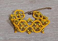 Náramky - Žltý náramok - 12747508_