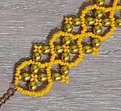 Náramky - Žltý náramok - 12747515_