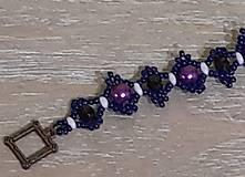 Náramky - Fialovo-modrý náramok - 12747544_