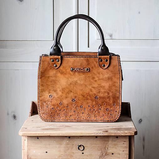 Kabelky - Kožená Vintage kabelka Antique leather-tan - 12749195_
