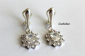 Náušnice - Klipsne Sissi Crystal - 12748322_