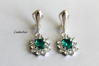 Náušnice - Klipsne Sissi Turquoise - 12748341_
