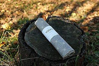 Úžitkový textil - Voskovaný obrúsok Voskáč 33x33cm (sivko) - 12749797_
