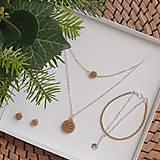Sady šperkov - LAYLA set vrstvených šperkov, béžový - 12746447_
