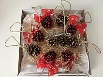 Dekorácie - Vianocne sisky set - 12752068_