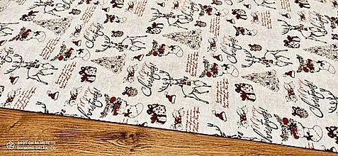 Textil - Bavlnená režná- Merry Christmas - cena za 10 cm - 12754334_