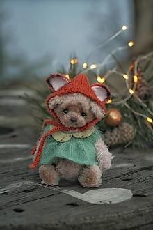Hračky - Mini medvedica v obleku líšky - 12750270_