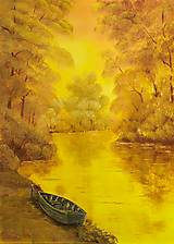 Obrazy - Loďka v žiari slnka - 12754425_