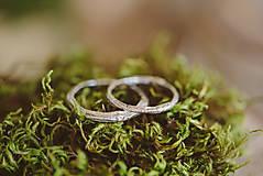 Prstene - Vetvičky snubné strieborné, jednoduché - 12754113_