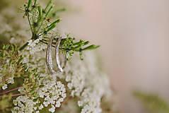Prstene - Vetvičky snubné strieborné, jednoduché - 12754114_