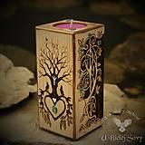 Svietidlá a sviečky - Strom života, svietnik - 12750830_