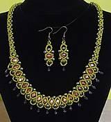 Sady šperkov - Zelený set - 12752564_