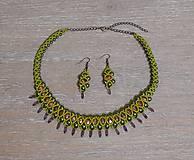Sady šperkov - Zelený set - 12752566_