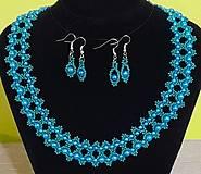 Sady šperkov - Tyrkysovo-zelený set - 12752779_