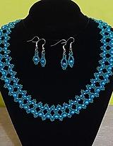 Sady šperkov - Tyrkysovo-zelený set - 12752780_