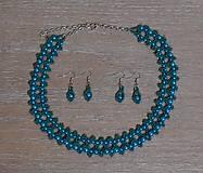 Sady šperkov - Tyrkysovo-zelený set - 12752781_