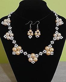 Sady šperkov - Perlový set - 12751651_